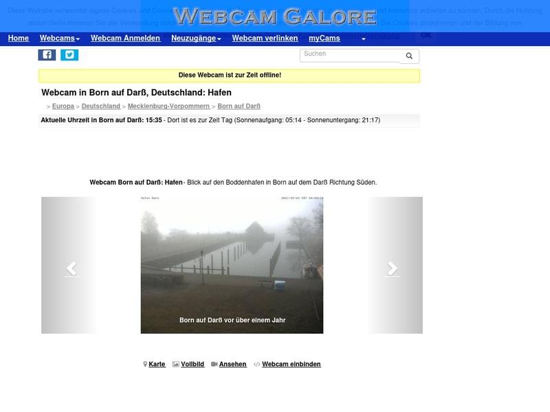 Screenshot von http://www.webcamgalore.de/webcam/Deutschland/Born-auf-Darss/6278.html